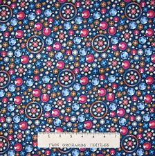 Jewel Fabric - Diamons & Denim Allover Dark Blue - Spectrix SPX YARD