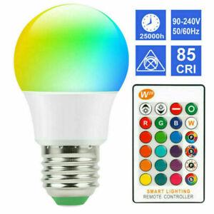 E26 LED Colour Changing Light Bulbs with Remote Control 5W RGB Light Bulbs