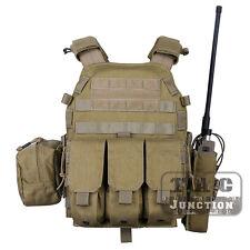 Emerson Tactical Modular MOLLE LBT-6094A Plate Carrier Vest w/ Pouches - Khaki