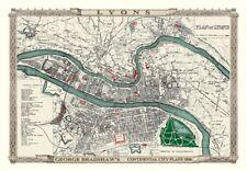 George Bradshaw'S CONTINENTAL Città Piano di Lione 1896 - 1000 Pezzo Puzzle