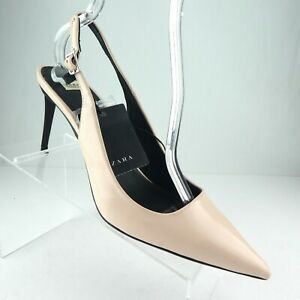 Details about  /NEW ZARA DUSTY PINK LEATHER HIGH HEELS PUMPS SHOES US 6