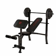 Marcy Standard Weight Bench Press with 80-lb. Weight Set, MKB-2081