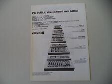 advertising Pubblicità 1977 OLIVETTI LOGOS 40/42/75 B