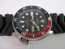 SEIKO DIVERS MENS WATCH DAY AND DATE 7S26-0020 SKX007 black 21j pepsi