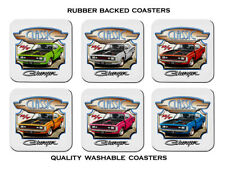 VALIANT  VH  E38  R/T  CHARGER        SET OF 6    RUBBER DRINK  COASTERS