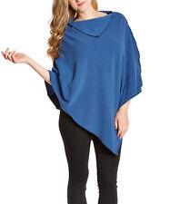 NunaWraps Blue Fleece Poncho Cape Travel Wrap Quality AntiPill Fleece USA MADE