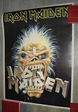 VINTAGE 80s 90s pin-up glossy poster affiche plakat IRON MAIDEN Eddie Crunch