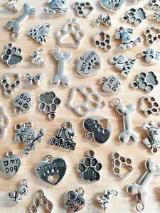 Hunde Pfoten Knochen Anhängerset zum Basteln Schmuckherstellung Deko Charms