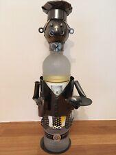 Handmade Metal Chef Figurine And Wine Bottle Holder