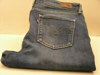 "LEVI'S STRAUSS &CO Men Jeans ""DEMI CURVE"" Denim Distressed Mid Rise Straigth W32"
