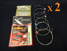 2 x Alice AE532 Hight Quality Light Electric Guitar String Set .01Inch~.046 Inch