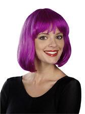 Perruque carré rose violet zinzolin 712029 grimage carnaval corso fetes costume