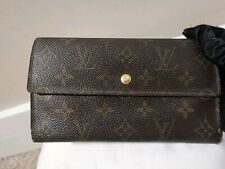 Auth LOUIS VUITTON Trifold Monogram Sarah Wallet MI0914