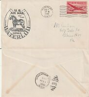 US 1948 FIRST FLIGHT FLOWN COVER WATERLOO IOWA TO MINNEAPOLIS MINNESOTA