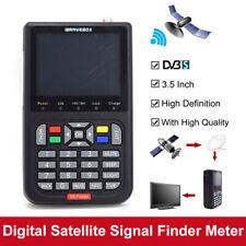 """V8 Finder 3.5"""" Digital Satellite Signal Finder HD 1080P DVB-S/S2 Detection Black"""