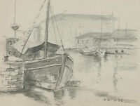John A. Case - C.1990 Graphite Drawing, A Variety of Harbour Studies
