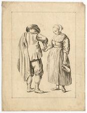 Antique Print-GENRE-MAN PAYING WOMAN-De Mare-Chalon-ca. 1770