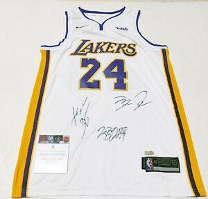 "Los Angeles Lakers #24 ""Mamba"" & #23 King & Black Cat 3 Autographed Jersey COA"