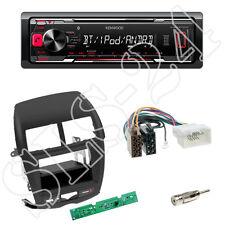 Kenwood KMM-BT203 Radio + Mitsubishi ASX 06/2010-14 Blende schwarz + ISO Adapter