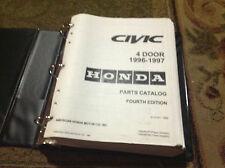 1996 1997 Honda CIVIC 4 DOOR Parts Catalog Shop Manual Book Factory 4TH EDITION