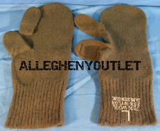 USGI Military WOOL TRIGGER FINGER MITTEN INSERTS w/ Trigger Finger LARGE NEW