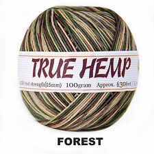 Natural Hemp Cord Variegated FOREST Color 10lb 0.5mm 630feet/192m 100gram Ball