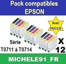 12 encres non oem t0711 t0712 t0713 t0714 t0715 to711 to712 to713 to714 to715