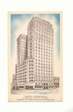 HOTEL ADELPHIA CHESTNUT AT 13th STREET PHILADELPHIA PA Vintage Postcard
