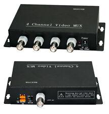 4 CHANNEL CCTV SECURITY CAMERA VIDEO MULTIPLEXER 4 CH RG59 COAXIAL MUX MODULATOR