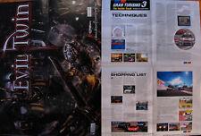 EVIL TWIN & GRAN TURISMO 3 Strategy Poster RARE MINT