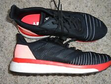 Adidas Men's Solar Drive Boost Athletic Shoes Black with light red size 14