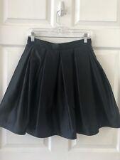 Todashi Black Satin Full Mini Skirt Evening Wear Pleated Size 0