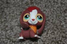 Littlest Pet Shop Brown White Beagle #849 Teal Eyes Tear Drop LPS Toy Dog Puppy