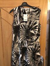 Next Black / White Summer Midi Dress Size 10 - NWT