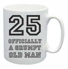 25th Nouveauté Cadeau D'Anniversaire Présent Thé Mug Grincheux Old Git Vieux de 25 ans Tasse à café