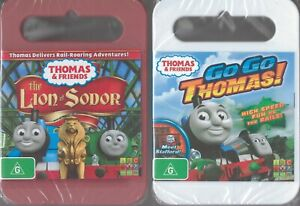 2x Thomas The Tank Engine & Friends DVDs Go Go Thomas + Lion Of Sodor NEW/SEALED
