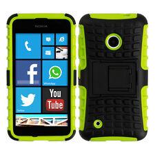 kwmobile Schutz Hülle für Nokia Lumia 530 Grün Schwarz Case Cover Bumper Handy