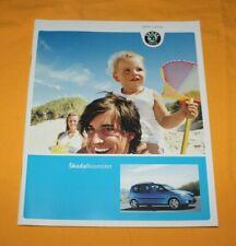 Skoda Roomster 2007 Prospekt Brochure Depliant Catalog Prospetto Prospecto