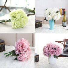 5pcs/lot Colorful Peony Bouquet Artificial Bunch Silk Flower Wedding Decor
