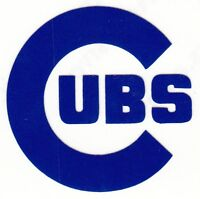 REFLECTIVE  Chicago Cubs decal sticker various sizes up to 12 inches
