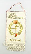#e6366 Original Old pennant from Poland Polski zwiazek gymnastyczny PZG Warszawa