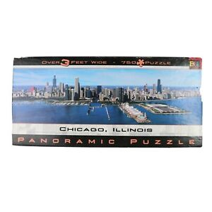 Chicago Panoramic Puzzle * Complete * 3 Feet Wide 750 Pieces * Buffalo Games
