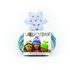 DMC Top This Knitted Hat Kit - Snowflake - Pattern, yarn and novelty character