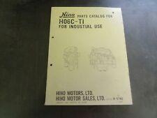 Hino H06C-T1 Parts Catalog Manual Book    B-5740
