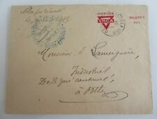 1924 Soldiers Mail Cover (YMCA-Brief) gestempelt in Frankreich Basse Pyrenes