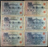 1908 Germany Imperial Bank Note 100 Mark Pick#34 World Currency Pre WW1