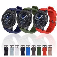 Nosotros para Samsung Galaxy Reloj 3 45mm R840 46MM S3 Reloj Banda Correa De Silicona Sport