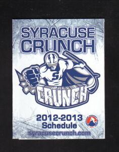 Syracuse Crunch--2012-13 Pocket Schedule--M&T Bank--Lightning Affiliate