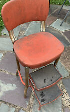 VINTAGE RED MARSH ALLAN STEP STOOL 1950's KITCHEN RARE