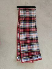 "Ralph Lauren Klayton Throw Blanket Brushed Plaid Tartan Christmas Nwt 54""x72"""